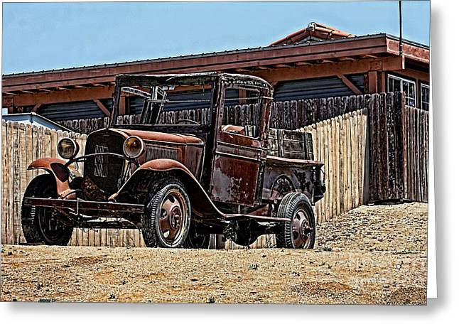 Best Sellers -  - Ford Model T Car Greeting Cards - Abandoned Ford Model T Greeting Card by Tommy Anderson