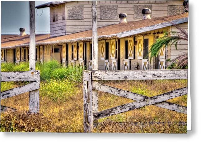 Abandoned Horse Stables Greeting Card by Connie Cooper-Edwards