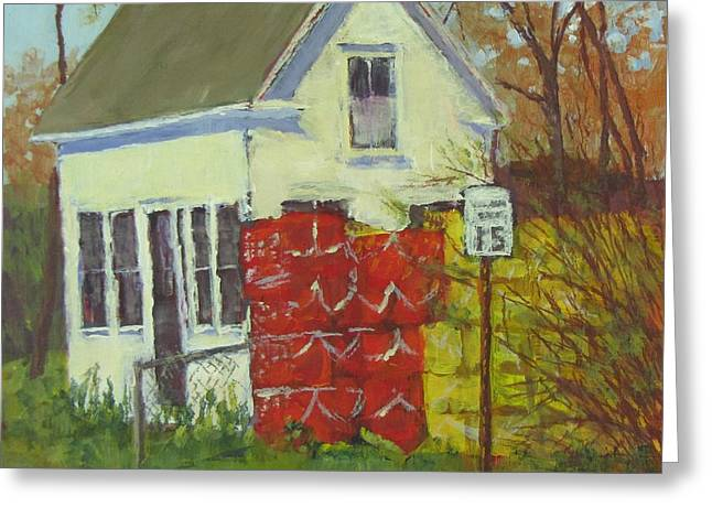 Coastal Maine Greeting Cards - Abandoned House and New Traps Greeting Card by Bill Tomsa