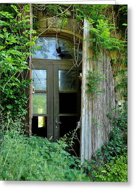 Abandoned Houses Greeting Cards - Abandoned House in France Greeting Card by Marion McCristall