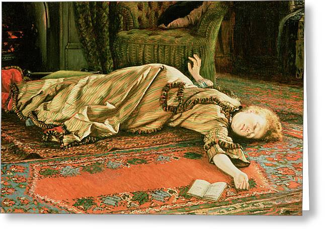 Faint Greeting Cards - Abandoned Greeting Card by James Jacques Joseph Tissot