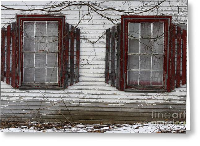 Old Maine Houses Greeting Cards - Abandoned Greeting Card by Katie W