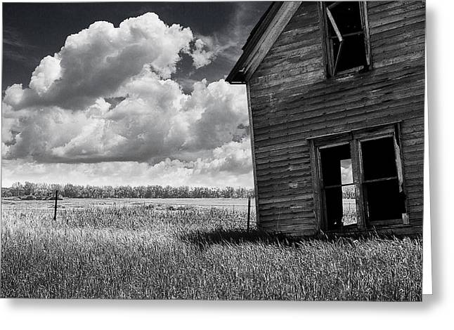 Erickson Greeting Cards - Abandoned Leaning House  Greeting Card by Donald  Erickson