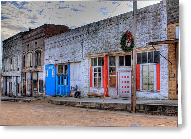 Abandoned Main Street Greeting Card by Douglas Barnett