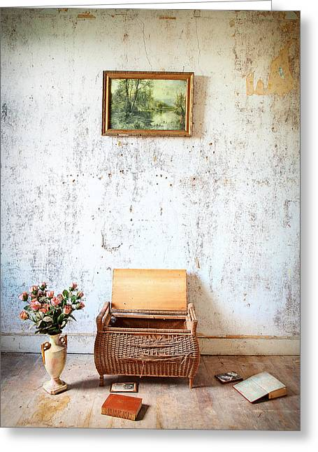 Ghost House Greeting Cards - Abandoned Memories -urbex Greeting Card by Dirk Ercken