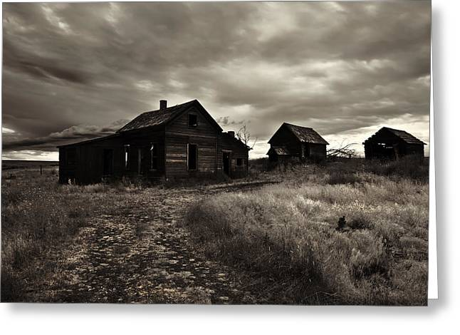 Storm Landscape Greeting Cards - Abandoned Greeting Card by Mike  Dawson