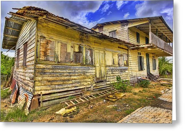 Tin Roof Greeting Cards - Abandoned Greeting Card by Nadia Sanowar