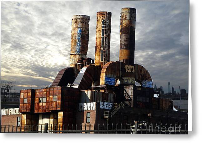 Power Plants Greeting Cards - Abandoned Power Plant Greeting Card by Lyric Lucas