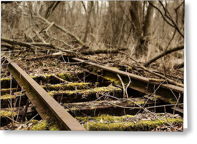 Huckleberry Railroad Greeting Cards - Abandoned Railroad 1 Greeting Card by Scott Hovind