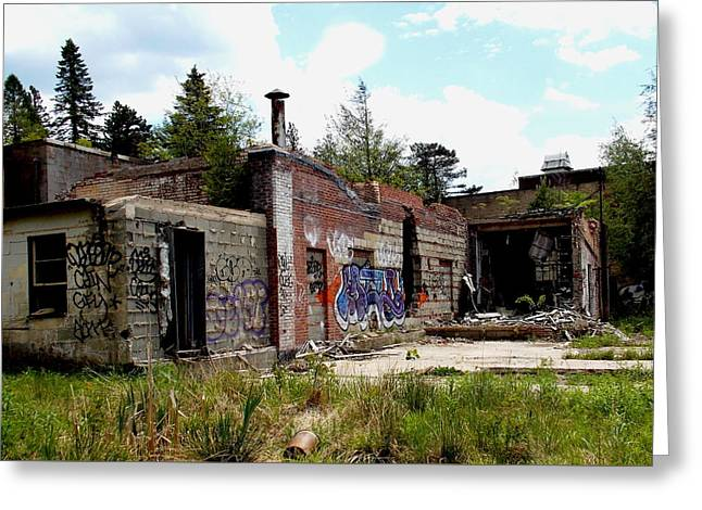Grossingers Greeting Cards - Abandoned resort  Greeting Card by Lindsey DePue