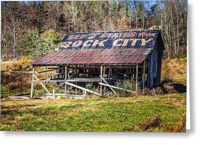 Tennessee Landmark Greeting Cards - Abandoned Rock City Barn Greeting Card by Debra and Dave Vanderlaan