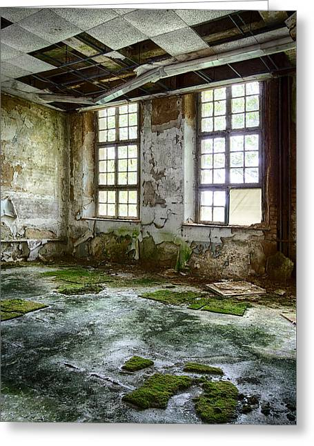 Ghost Castle Greeting Cards - Abandoned Room - Urban Decay Greeting Card by Dirk Ercken
