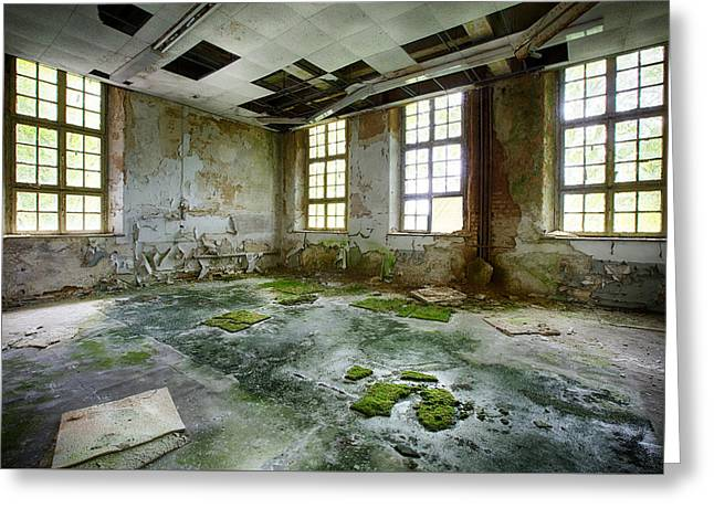 Ghost Castle Greeting Cards - Abandoned Room - Urban Exploration Greeting Card by Dirk Ercken