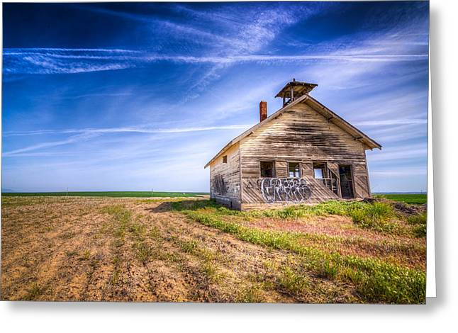 Abandoned School House. Greeting Cards - Abandoned School House Greeting Card by Spencer McDonald