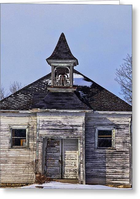 Abandoned School House. Greeting Cards - Abandoned School Greeting Card by Sue Kennedy