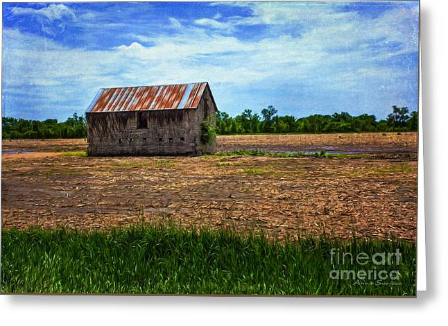 Outbuildings Greeting Cards - Abandoned Stone Barn Greeting Card by Anna Surface