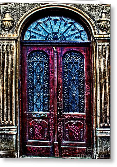 Relifs Greeting Cards - Abandoned Wooden Door Greeting Card by Milan Karadzic