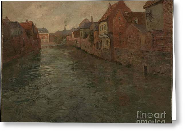 Thaulow Greeting Cards - Abbeville  Greeting Card by Celestial Images