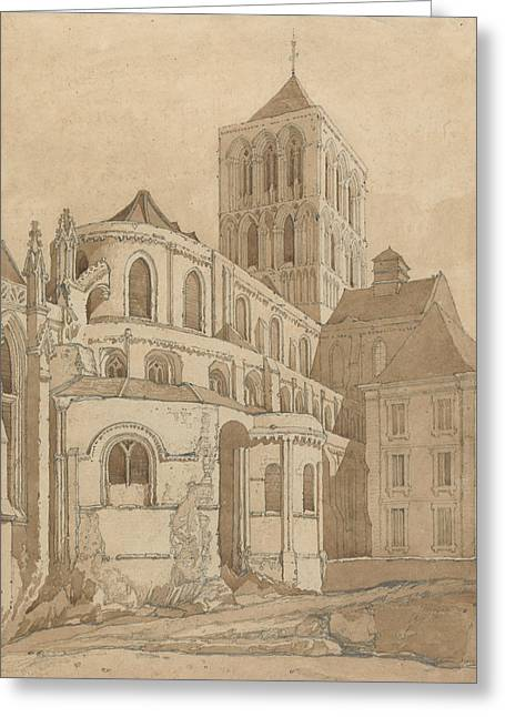 Abbey Church At Fecamp, Normandy Greeting Card by John Sell Cotman