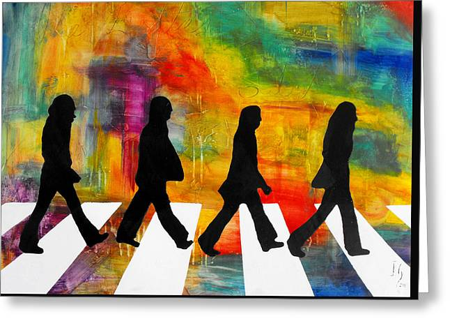 Shout Greeting Cards - Abbey Road Greeting Card by Ivan Guaderrama
