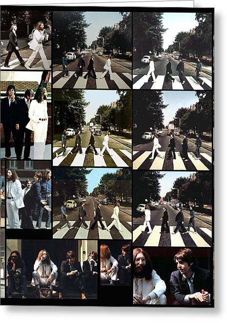 The Beatles Images Greeting Cards - Abbey Road Photo Shoot Greeting Card by Paul Van Scott