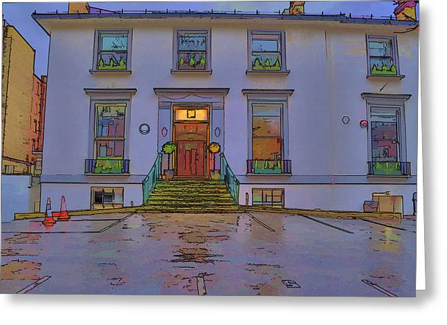 Abbey Road Recording Studios Greeting Card by Chris Thaxter