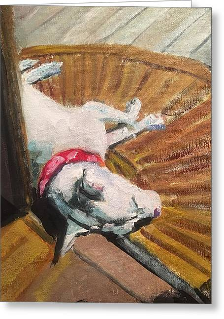 Abby In Sunshine Greeting Card by Susan E Jones