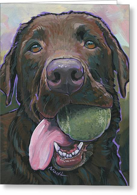 Nadi Spencer Greeting Cards - Abby Greeting Card by Nadi Spencer