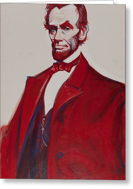 Recently Sold -  - Proclamation Greeting Cards - Abe Greeting Card by John Reynolds