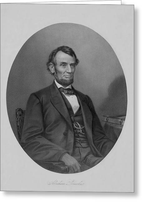 Abraham Greeting Cards - Abraham Lincoln Greeting Card by War Is Hell Store