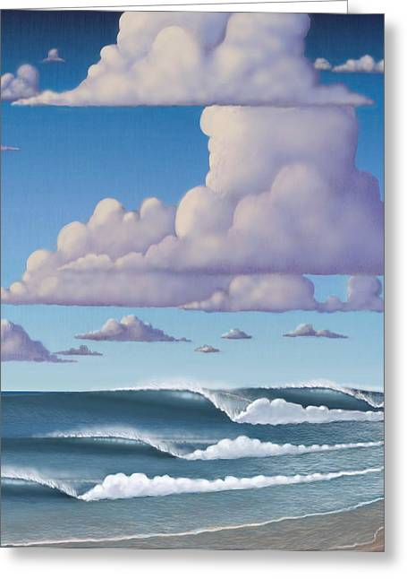 Surf Art Greeting Cards - Abeautiful day at the beach Greeting Card by Tim Foley