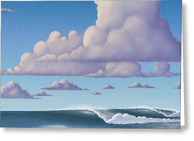 Abeautiful day at the beach Greeting Card by Tim Foley