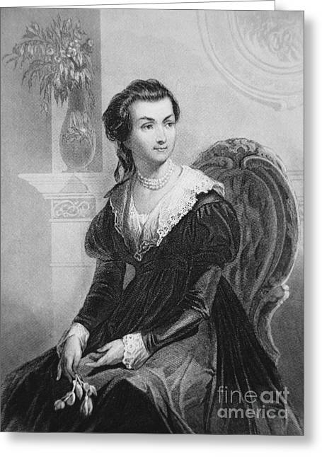 First Lady Drawings Greeting Cards - Abigail Smith Adams Greeting Card by American School
