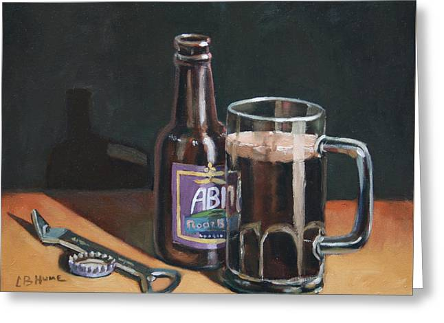 Bottle Cap Paintings Greeting Cards - Abita RootBeer Greeting Card by CB Hume