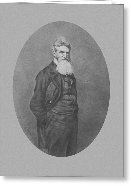 Abolitionist Mixed Media Greeting Cards - Abolitionist John Brown Greeting Card by War Is Hell Store