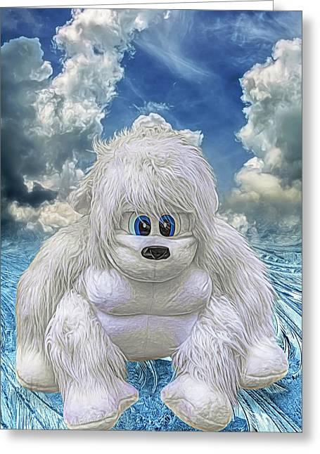 Abominable Greeting Card by John Haldane