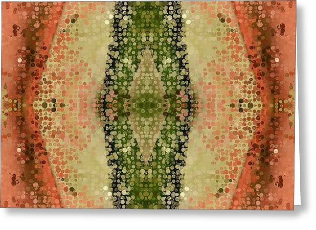 Sacred Tapestries - Textiles Greeting Cards - About to Burst Open Greeting Card by Suzi Freeman