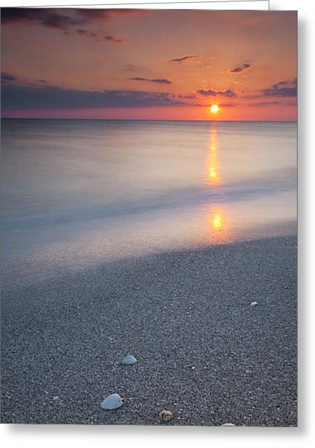 Ocean Shore Greeting Cards - Above and Below Greeting Card by Ryan Heffron