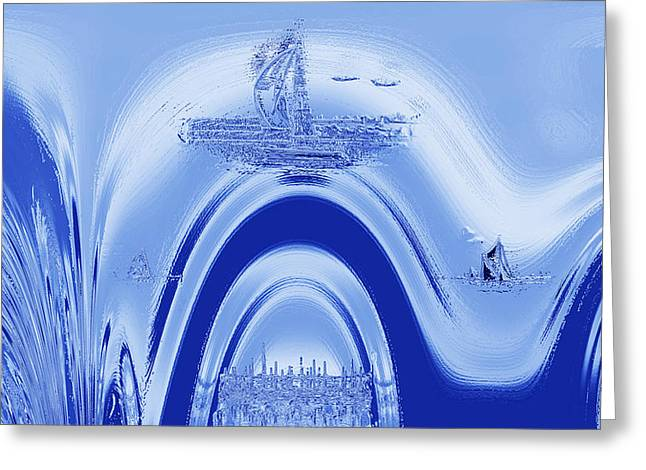 Lost City Greeting Cards - Above Atlantis. Greeting Card by Terence Davis