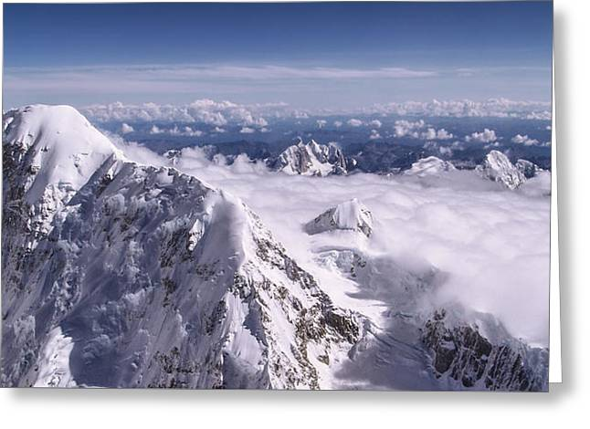 Above Denali Greeting Card by Chad Dutson