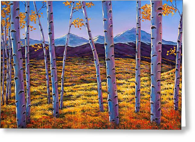 Autumn Aspens Greeting Cards - Above it All Greeting Card by Johnathan Harris