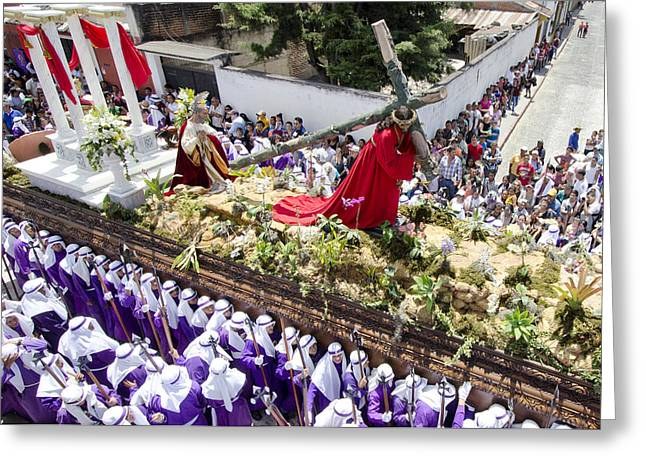Holy Week Greeting Cards - Above The Andas Greeting Card by Michael  Scott