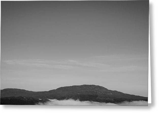 Above The Cloud Greeting Card by Chris Dale