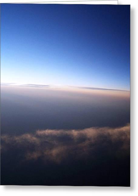 Anna Villarreal Garbis Greeting Cards - Above the Clouds 4 Greeting Card by Anna Villarreal Garbis