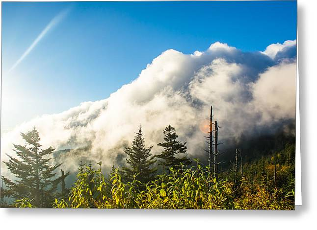 Rocks Greeting Cards - Above the Clouds Horizontal Greeting Card by Shelby Young
