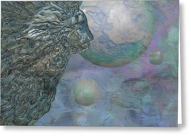 Abstract Shapes Greeting Cards - Above The Clouds Greeting Card by Jack Zulli