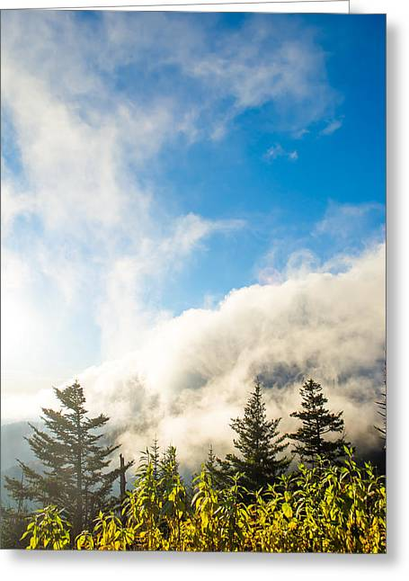 Rocks Greeting Cards - Above the Clouds Greeting Card by Shelby Young