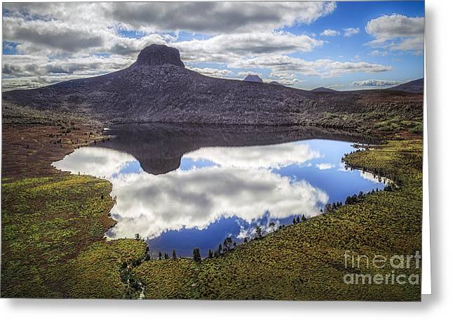 Cradle-mountain Greeting Cards - Above The Earth. Below The Sky. Greeting Card by Evelina Kremsdorf