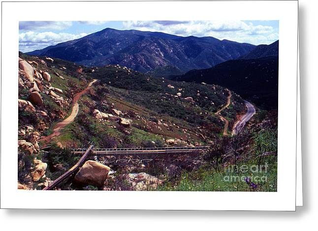 Cellphone Greeting Cards - Above The Flume 1983 Greeting Card by Alan Thwaites