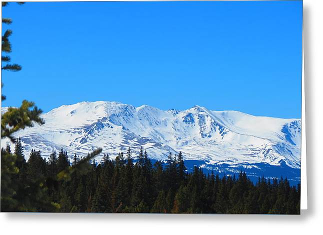 Snow Capped Greeting Cards - Above The Forest Greeting Card by Connor Ehlers
